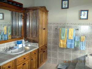Master Bath Linen Closet and Vanity